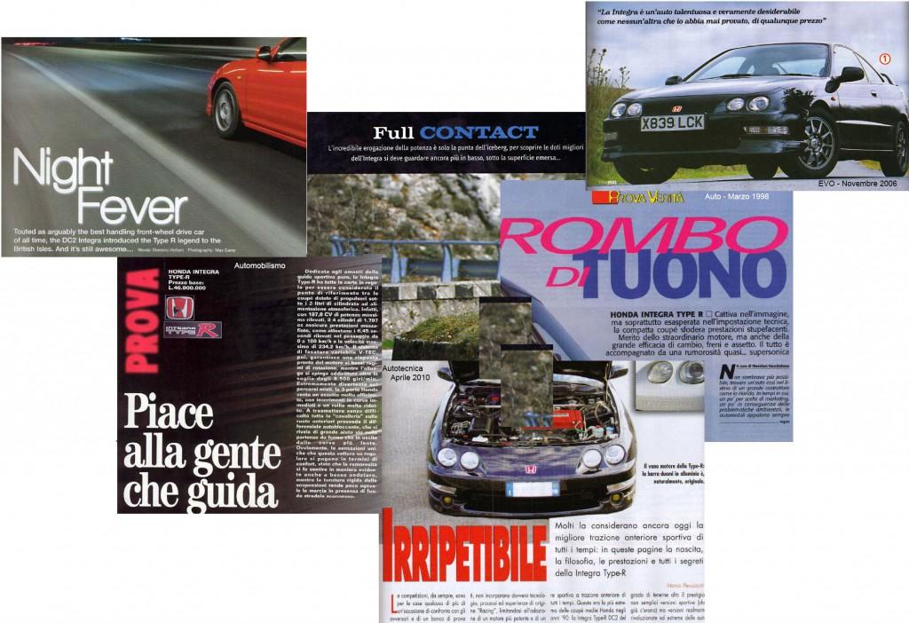 Raccolta di articoli apparsi su riviste del settore