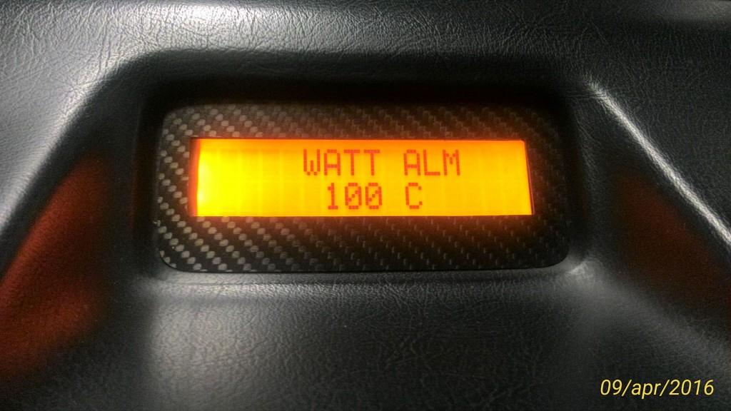 Impostazione soglia di allarme temperatura acqua